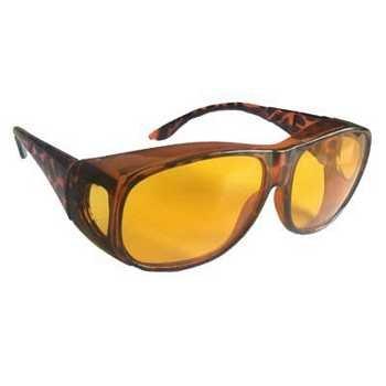Nachtsichtbrille Kontrastbrille Überziehbrille Night Vision Nachtfahrbrille Nachtbrille
