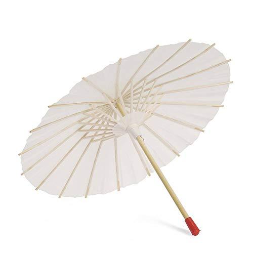 Maritown Chinesische handgemachte Sonnenschirm dekorative Öl Papier und Bambus Regenschirm für klassischen Tanz Leistung Kostüme Cosplay Fotografie Dekor (leeres Papier, Holz)