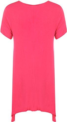 WearAll - Haut long et imprimé à manches courtes - Hauts - Femmes - Grandes tailles 40 à 58 Cerise