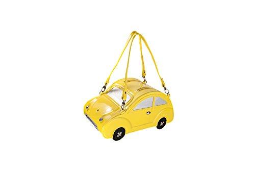 manuale di auto a forma di scarabeo shitao moda donna pu borsa di pelle st15qjc Giallo