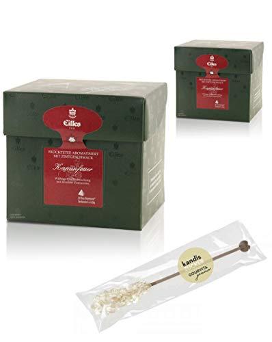 EILLES Tea Diamonds Kaminfeuer Mega-Sparset mit 2 Boxen und gratis Kandisstick von Gourvita Moments