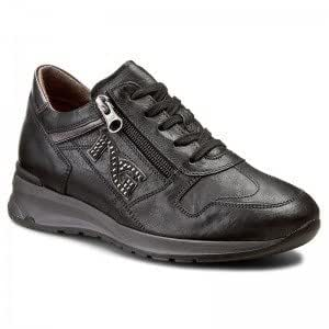 In A616055d100 Nero 37Amazon Pelle Giardini Con Sneaker Zip it nPwO0k