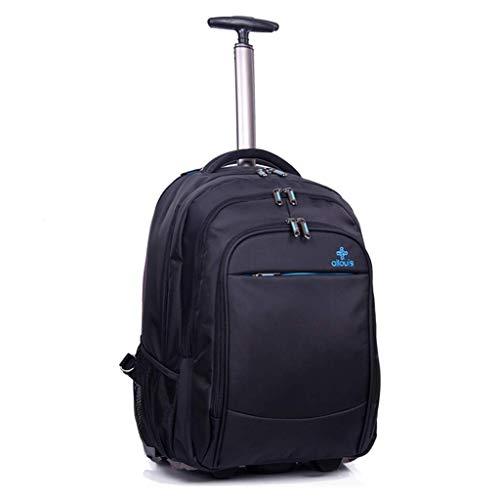 BAIJJ 2-Rad Trolley Rucksack, Laptop Trolley Tasche, Executive Mobile Office Business Handtasche (Schwarz -