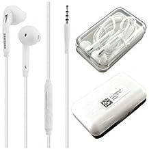 Auriculares Manos Libres Original Samsung EO-EG920BW para Galaxy S6, S7, Edge, Blanco, Box Blister