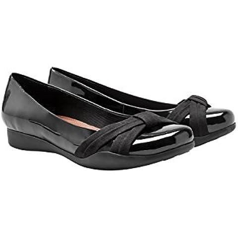 next Mujer Zapatos Zapatillas Bailarinas De Charol Con Lazo Casuales