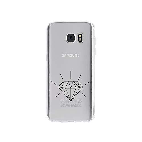 licaso Samsung S7 Edge Handyhülle Smartphone Samsung Case aus TPU mit Diamond 3D Print Motiv Slim Design Transparent Cover Schutz Hülle Protector Soft Aufdruck Lustig Funny Druck (Verlobungsring Protector)