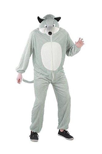 Foxxeo 10005 | Wolf Kostüm für Damen und Herren, Tierkostüm | Gr. S, M, L, XL, XXL,XXXL, XXXXL, Größe:XL, Tiere:Wolf (Herren-wolf)