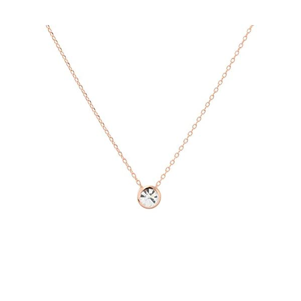 Aaishwarya Gold Crystal Stone Timeless Pendant Chain for Women