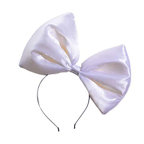 XueXian Haarreif mit Schleife,Haarschmuck Stirnband Haarbänder Kopfband Mehrfarbig(Weiß) (Niedliche Halloween Freundin Kostüme Beste)