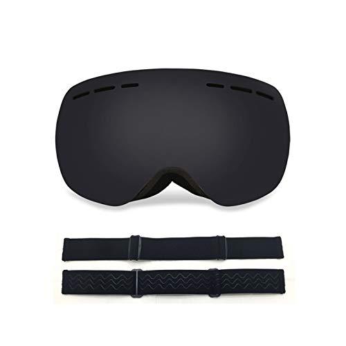KnSam Winddicht Uv-Beständig Polarisierte Sportbrille Kratzfester Scheibe Panoramablickfeld Schwarz Schutzbrille