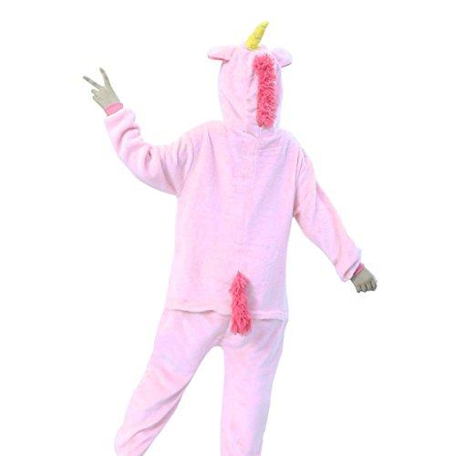Imagen de tintop pijama animal entero unicornio adulto niños pijamas unisexo traje para mujer hombre disfraz para navidad alternativa