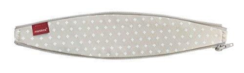bellybutton by manduca ZipIn Ellipse WildCrosses Sand Reißverschluss-Einsatz in Ellipsenform für die manduca Babytrage, optimiert für Neugeborene und kleine Babys, beige mit weißen Kreuzen