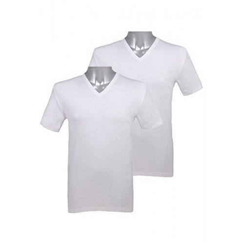 Jockey 2 Stk. V-Shirt Modern Classic weiss 1850 1823 weiß (01)