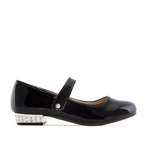 Mädchen Lackleder Mary Jane (Andres Machado - AM5169 - Mary Jane Schuh für Mädchen aus Lackleder.EU 26 bis 35, Lack Schwarz Mädchen, 33 EU)