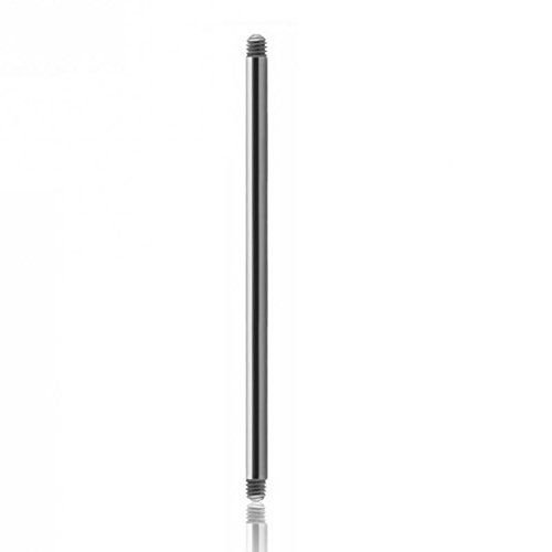 Titan - Barbell - ohne Kugeln - 10er Pack (Piercing Stab für bspw. Zungenpiercing, Brustwarzenpiercing etc. silber) 1,6 mm | 15 mm