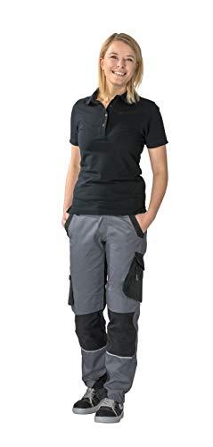 Planam Norit Damen Bundhose, Farbe: Schiefer/Schwarz, Größe: 34