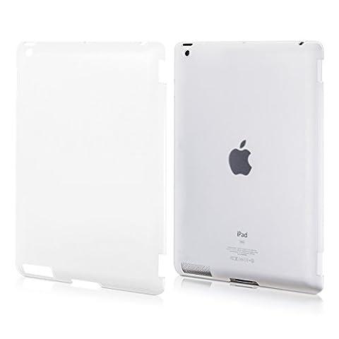 kwmobile Étui rigide solide et caoutchouté, bonne prise en main, pour Apple iPad 2 / 3 / 4 en transparent