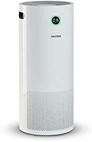 Resideo Air Purifier with Remote Control, Advanced 3 Stage Filtration, AQI sensors with Digital Display, 60 sq