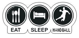EAT-SLEEP-HANDBALL Aufkleber Autoaufkleber Sticker Vinylaufkleber Decal