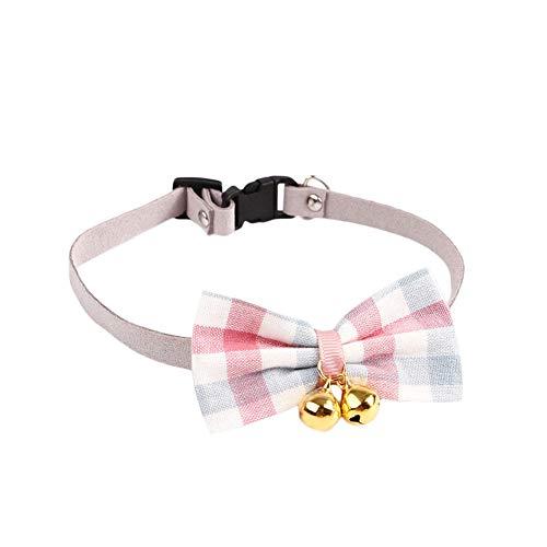 Lumanuby. Collar Ajustable Gato Perros pequeños Cascabel