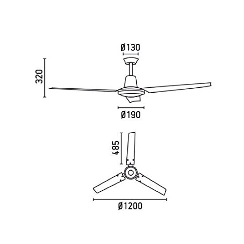 31df1ppSs6L. SS500  - Faro 33005 Eco Indus Ceiling Fan (White)