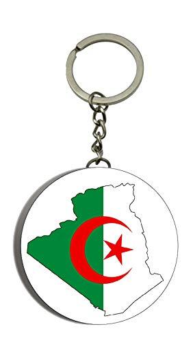 Land Lieben Kostüm - Gifts & Gadgets Co. Schlüsselanhänger Algerien Karte auf Algerien Flaschenöffner Schlüsselanhänger, rund, 58 mm
