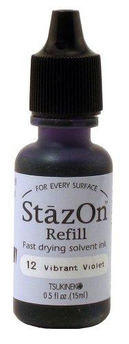 StazOn inchiostro Refill .5oz-vibrante viola