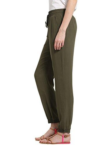 Berydale Damen Stoffhose in fließend weicher Qualität Grün (Olive)