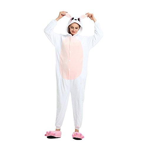 Pyjama Erwachsene Unisex Cosplay Kostüm Tier Nachtwäsche Flanell Neuheit Halloween Weihnachten Kleider ()