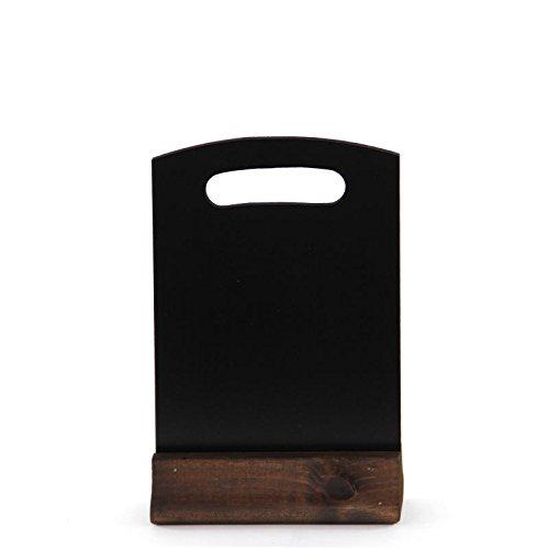 A5 doble cara arqueada con pizarrón de mesa base de madera sólida. NC IA5TB