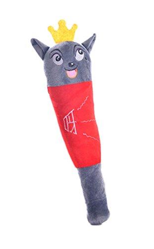2 Stück Rückenmassage Spielzeug Plüsch Spielwaren Puppe, Roter Wolf (Bindegewebsmassage Massieren)