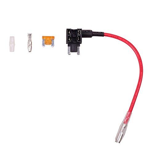 HitCar Flachsicherungsadapter für Spannungsabgriff für KFZ LKW Flachsicherung 12V?inkl. 5A Sicherung Blade-Stil ATM APS ATT Low Profile Mini-Sicherungshalter (Mini) Att Mobile-handy