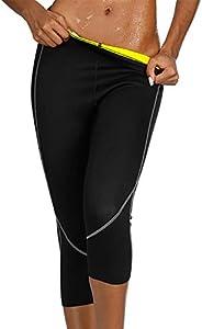 JOYMODE Women's Workout Training Leggings Neoprene Fat Burning Sweat Sauna Capris Fitness Sports Active