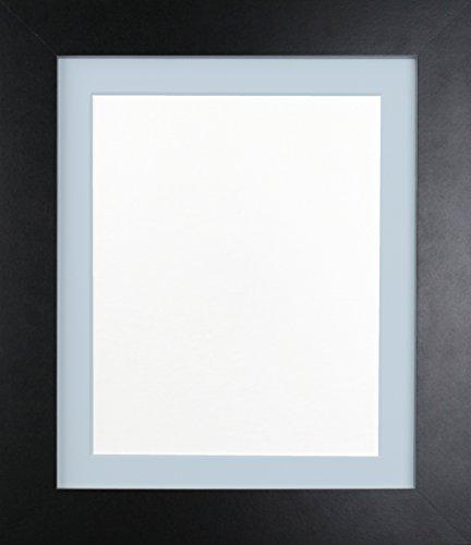 Frames By Post Schwarz Foto Bild Poster Rahmen mit blau Halterung, holz, 39mm Frame, 6