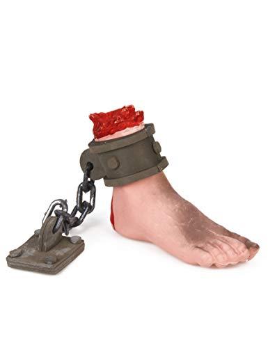 Generique - Abgehackter Fuß mit Fessel und Kette Halloween-Zubehör hautfarben