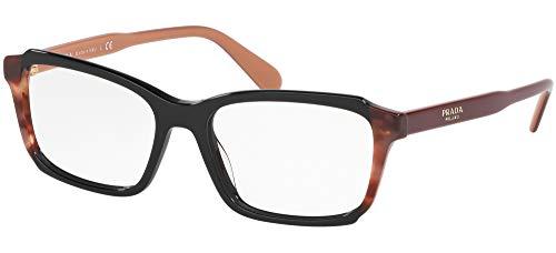 Ray-Ban Damen 0PR 01VV Brillengestelle, Weiß (Black/Pink Havana), 53.0