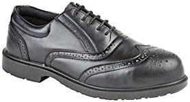 Negro De Hombre Cuero Liso COMPOSITE No Metal Oxford Zapatos Oxford