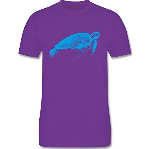 Shirtracer Sonstige Tiere - Wasserschildkröte - Herren T-Shirt Rundhals Lila