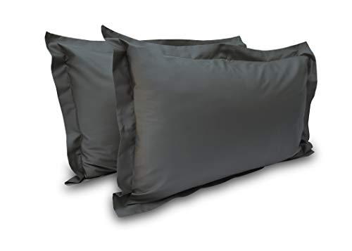 Gastfreundschaft Grade Ultra Komfort Fadenzahl 800Ägyptische Baumwolle 2Stück Kissen Sham Set King Grau (Elephant Grey) - ägyptische Komfort