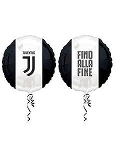 "bigiemme balón de papel de aluminio 17""""-43cm, Juventus, Multicolor, 6b800001"