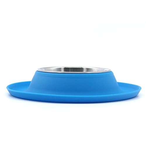 SuperDesign-Replacable-Stainless-Steel-Pet-Food-Water-Bowl-in-Stable-Non-slip-Non-spill-Silicone-Stand-for-Dog-and-Cat-Small-Blue