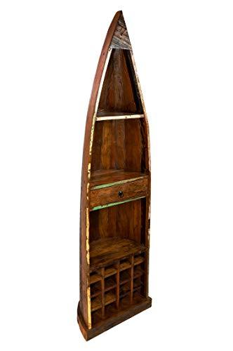 Marrakesch Orient & Mediterran Interior ® Indisches altes boot regal weinregal Baldev Vintage Boot