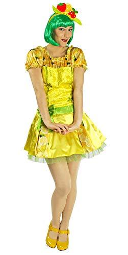 Zitronen Kostüm Frucht - Spritzige Zitrone Kostüm für Damen - Gr. 40 42