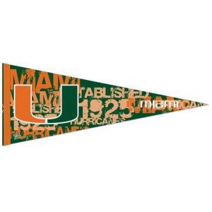 Wincraft NCAA 72579091 Premium-Wimpel University of Miami (Florida), 30,5 x 76,2 cm