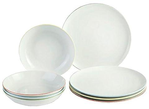 Vivo 19-5246-8717Fresh Colour Table Set 8Piece Crockery Set, Porcelain 27x