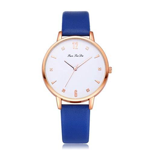 Kinlene Damen Uhren Luxus Mode Lederband Analog Quarz Runde Armbanduhr Uhren