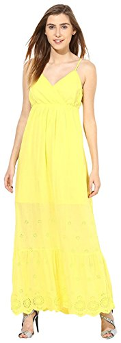 VERO MODA Women's Cotton A-Line Dress (10132077_Buttercup_S)