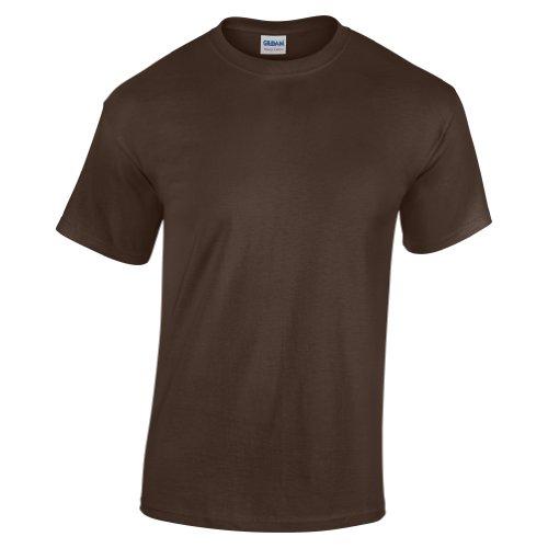 Gildan - maglietta a maniche corte, in cotone pesante Dark Chocolate