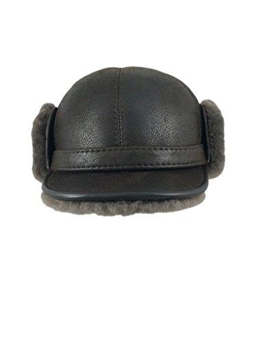 zavelio-mens-shearling-sheepskin-elmer-fudd-pilot-visor-hat-medium-cashmere