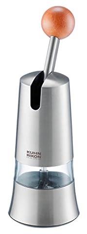 Kuhn Rikon 25560 Moulin à Epices à Cliquet en Acier Inoxydable 7,2 x 7,2 x 21,9 cm